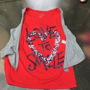 Justice Love to Smile Tank Top
